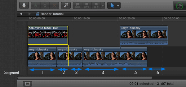 how to render a video on final cut pro