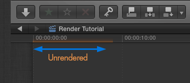 FCP showing that footage is unrendered