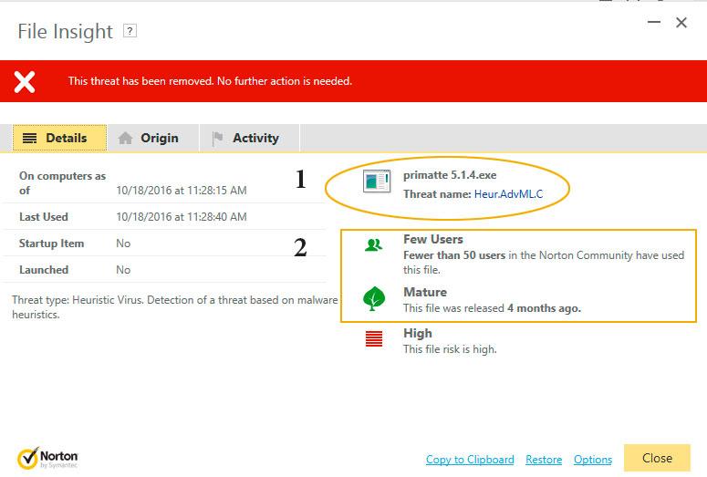 Do not use Norton Anti-virus as it's unreliable